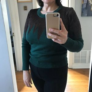 Lucca Couture Green Peaks Sweater M
